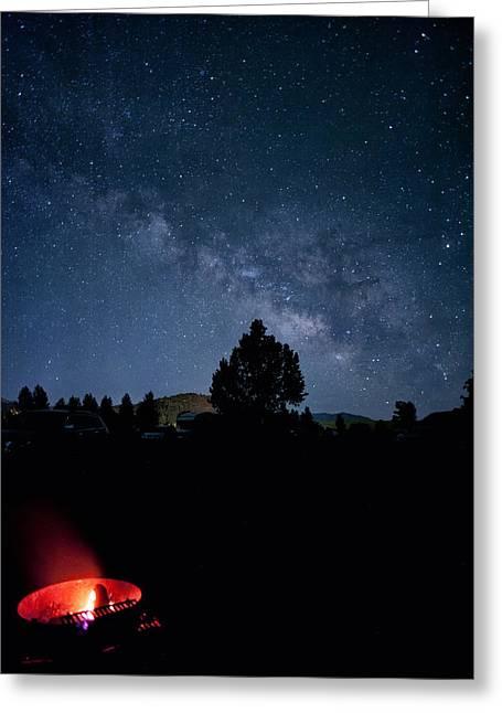 Milky Way And Campfire Greeting Card by Melany Sarafis
