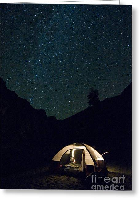 Salmon River Idaho Greeting Cards - Milky Way And Night Sky Greeting Card by William H. Mullins
