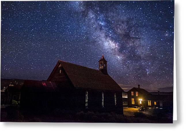 Ghost Town Greeting Cards - Milky Way at Bodie Greeting Card by Cat Connor