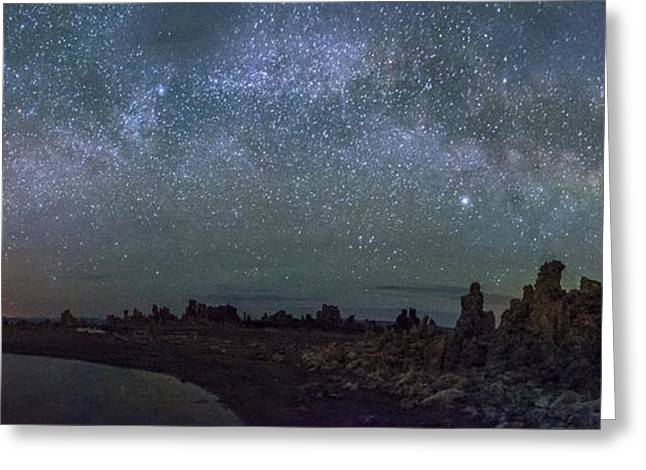 Tufa Greeting Cards - Milky Way at Mono Lake Greeting Card by Cat Connor