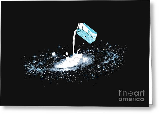 Outer Space Greeting Cards - Milky Way Greeting Card by Budi Kwan