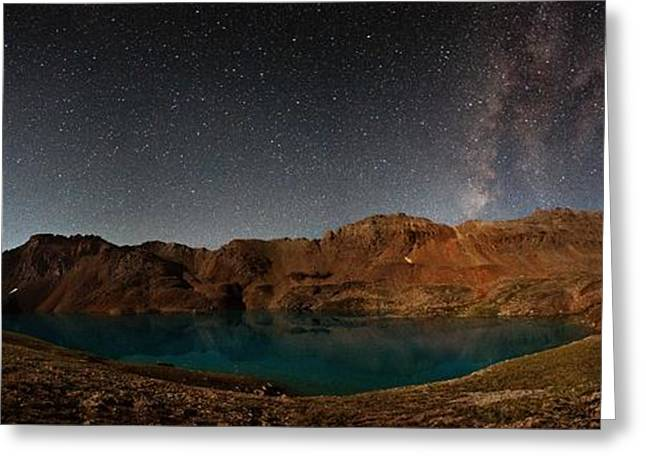 Copyright 2013 By Mike Berenson Greeting Cards - Milky Way Dreams At Columbine Lake Greeting Card by Mike Berenson