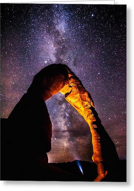 Landscape Framed Prints Greeting Cards - Milky Way Explorer Greeting Card by Darren  White
