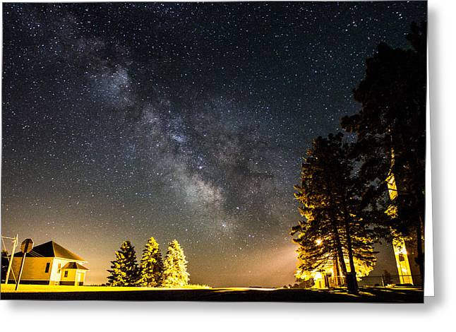 Single Greeting Cards - Milky Way from Oldham South Dakota USA Greeting Card by Aaron J Groen
