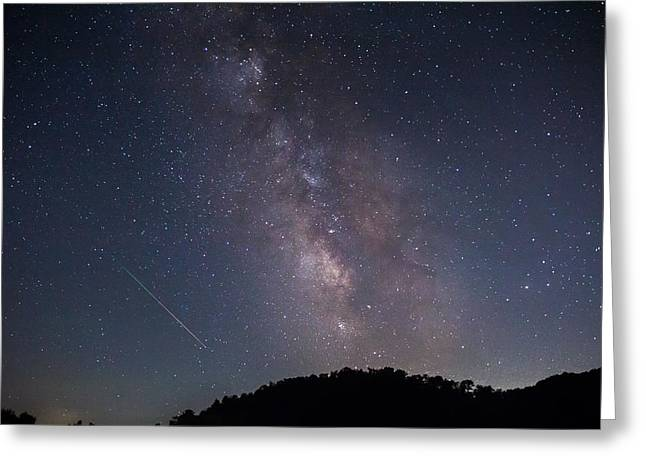 A Summer Evening Greeting Cards - Milky Way Greeting Card by Mary Almond