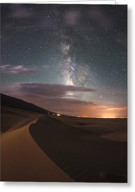 Great Sand Dunes National Park Greeting Cards - Milky Way Nightscape From Great Sand Dunes National Park Greeting Card by Mike Berenson