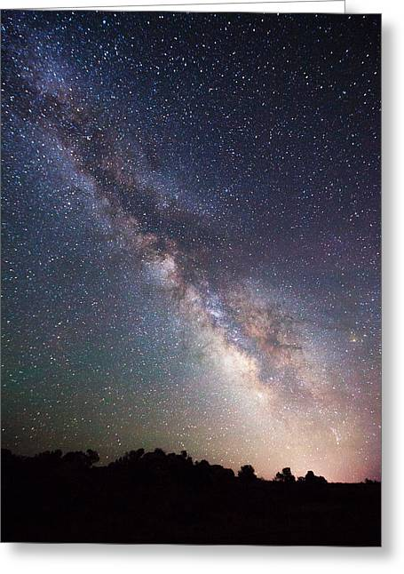 Nowhere Greeting Cards - Milky Way on the Rocks Greeting Card by Darren  White