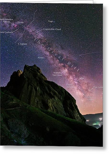 Milky Way Over Alamut Greeting Card by Babak Tafreshi
