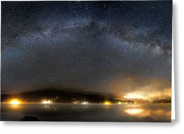 Fish Digital Art Greeting Cards - Milky Way Over Bass Lake, California Greeting Card by Rogelio Bernal Andreo