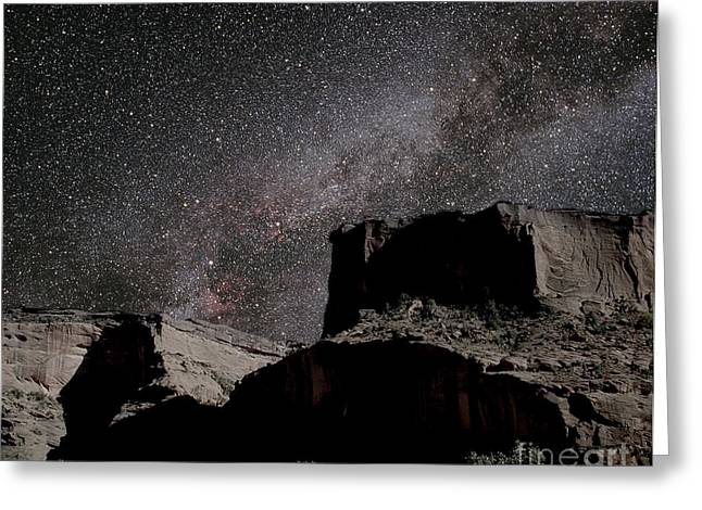 Field Rocks Greeting Cards - Milky Way Over Canyon Greeting Card by Chris Cook
