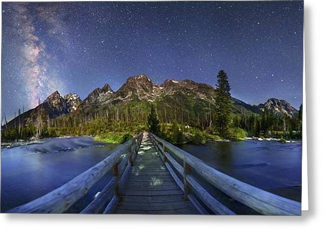 Milky Way Over Grand Teton National Park Greeting Card by Walter Pacholka, Astropics
