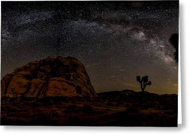 Featured Images Greeting Cards - Milky Way over Joshua Tree Greeting Card by Peter Tellone