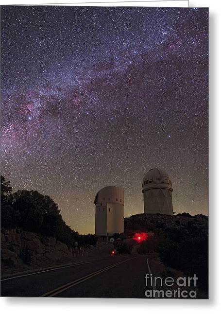 Quinlan Greeting Cards - Milky Way Over Kitt Peak Observatory Greeting Card by Babak Tafreshi, Twan
