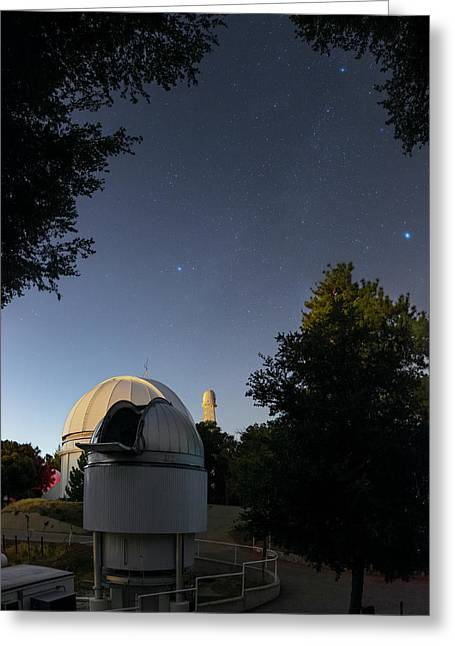 Milky Way Over Mount Wilson Observatory Greeting Card by Babak Tafreshi