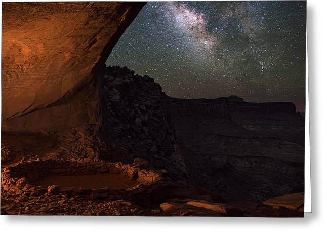 Copyright 2013 By Mike Berenson Greeting Cards - Milky Way Skies From False Kiva Greeting Card by Mike Berenson