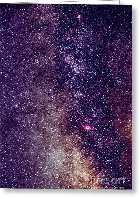 Milky Way Star Fields Greeting Card by John Chumack