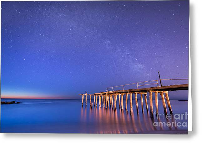 Ver Sprill Photographs Greeting Cards - Milky Way Sunrise Greeting Card by Michael Ver Sprill