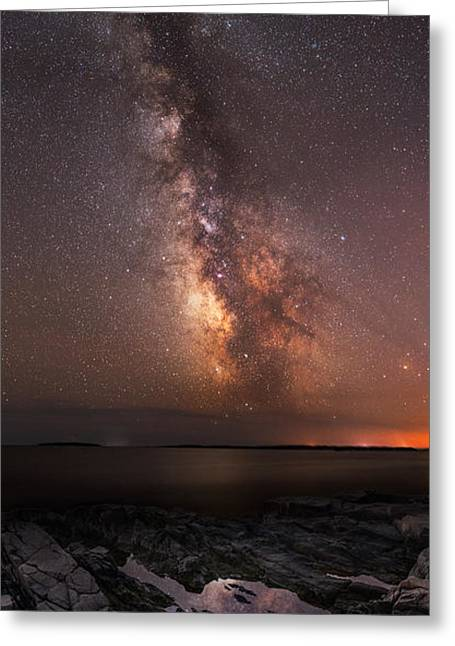 Ver Sprill Photographs Greeting Cards - Milky Way Tide Pool Greeting Card by Michael Ver Sprill