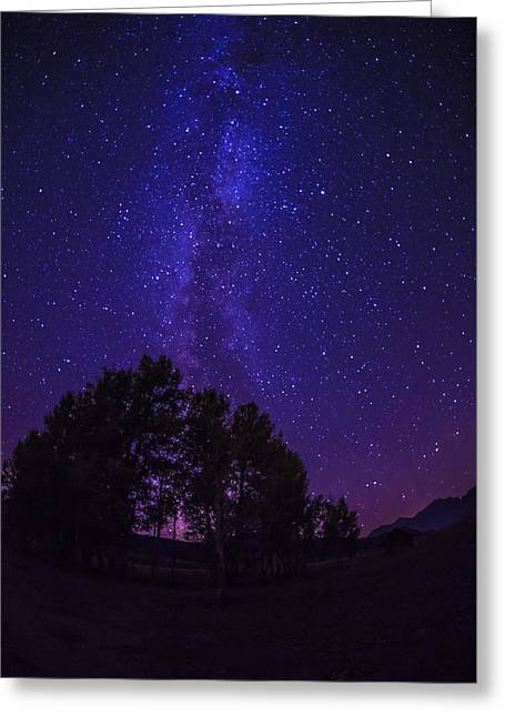 Night-scape Greeting Cards - Milky way Greeting Card by Vishwanath Bhat