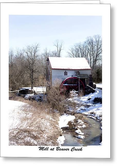 Mill At Beaver Creek Greeting Card by Terry Spencer