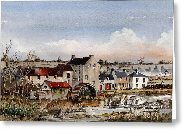 Limerick Greeting Cards - Mill at Bruree  Limerick Greeting Card by Val Byrne