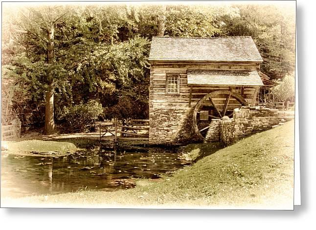 Solebury Farm Greeting Cards - Mill at Cuttalossa Farm Greeting Card by Carolyn Derstine