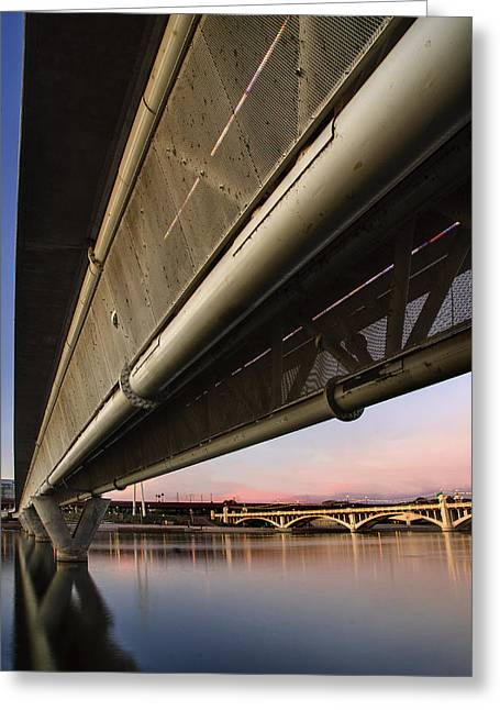 Asu Greeting Cards - Mill Avenue Bridge Abstract Greeting Card by Dave Dilli