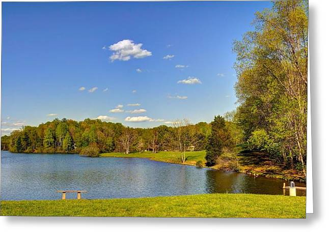 Fishing Creek Greeting Cards - Mill Creek Lake 2 Greeting Card by Todd Hostetter