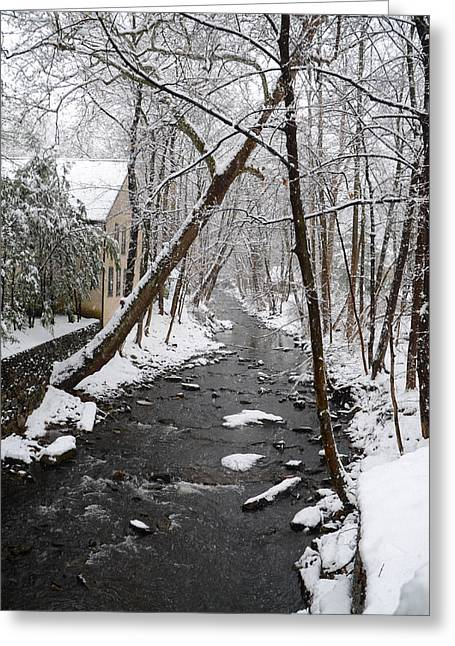Merion Greeting Cards - Mill Creek - Lower Merion Pa. Greeting Card by Bill Cannon