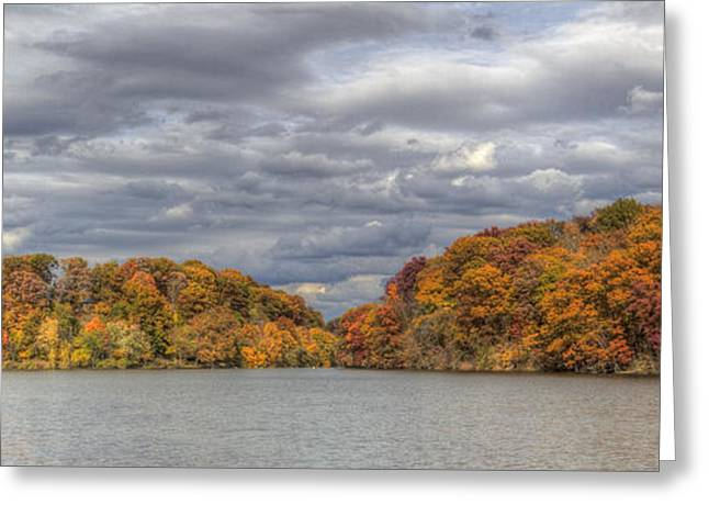 Mills Glacier Greeting Cards - Mill Creek Park in Fall Greeting Card by David Dufresne