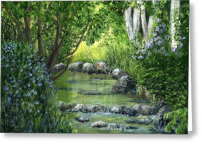Catherine Howard Greeting Cards - Mill Creek Spring Greeting Card by Catherine Howard