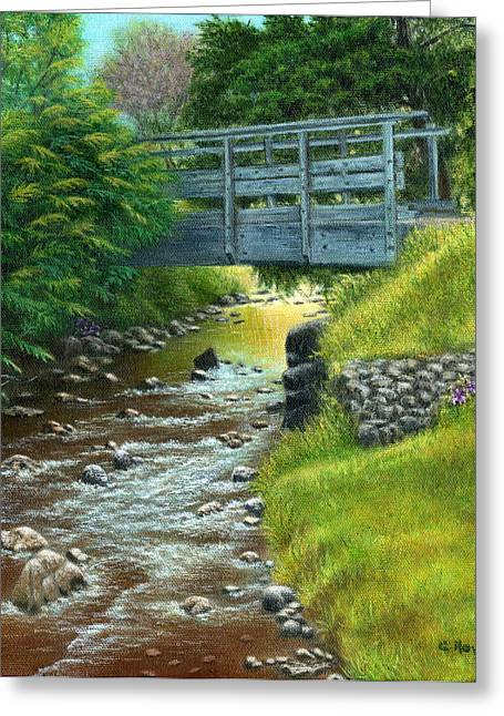 Catherine Howard Greeting Cards - Mill Creek Summer Greeting Card by Catherine Howard