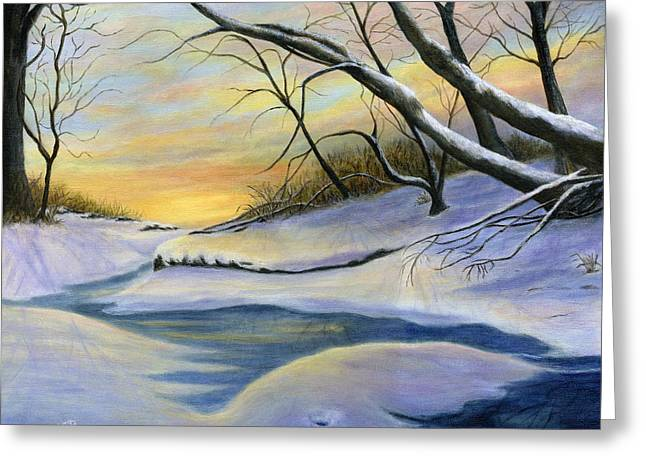 Catherine Howard Greeting Cards - Mill Creek Winter Greeting Card by Catherine Howard