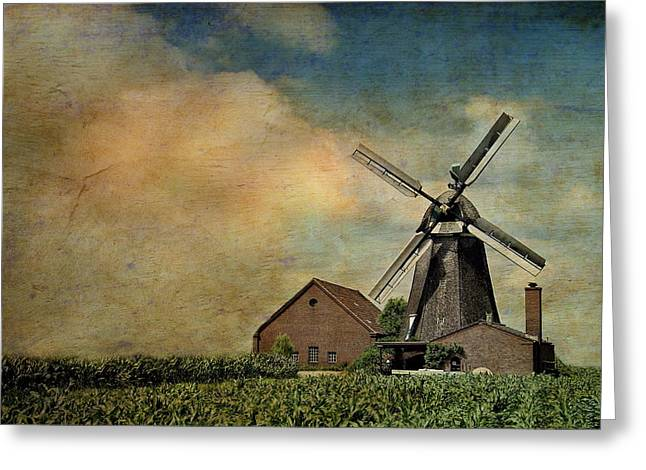 Europe Mixed Media Greeting Cards - Mill Greeting Card by Heike Hultsch