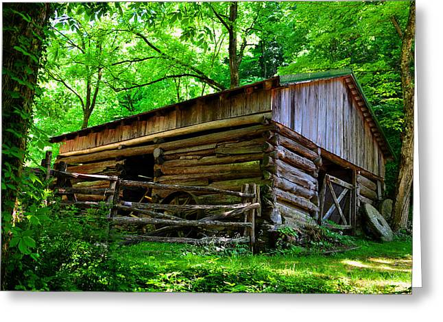 Log Cabins Greeting Cards - Mill House barn Greeting Card by David Lee Thompson