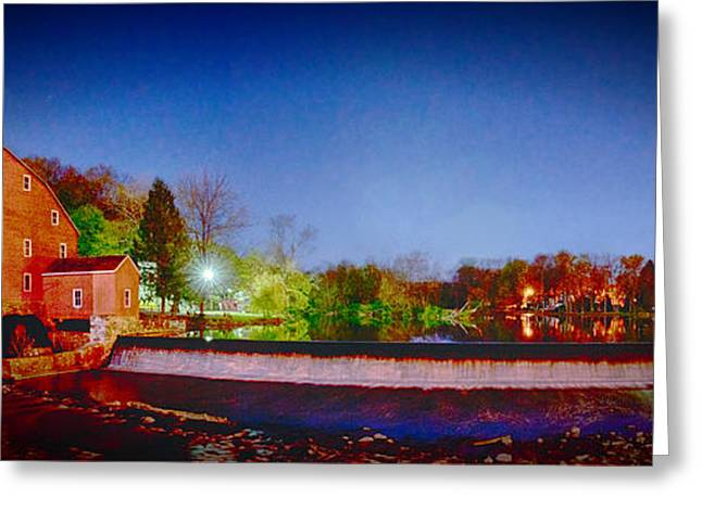 Hdr Landscape Greeting Cards - Mill Pano II Greeting Card by Ryan Crane