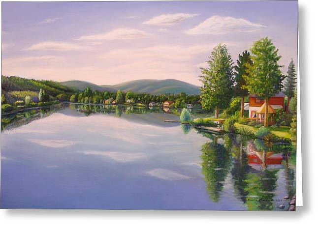 Mills Pastels Greeting Cards - Mill Pond Greeting Card by Bruce MacBride