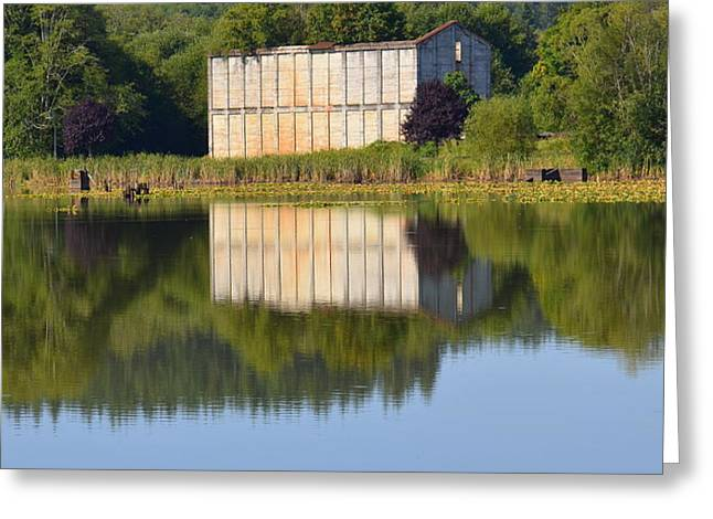 American Bridge Company Greeting Cards - Mill Pond Ruins Greeting Card by Jeri lyn Chevalier