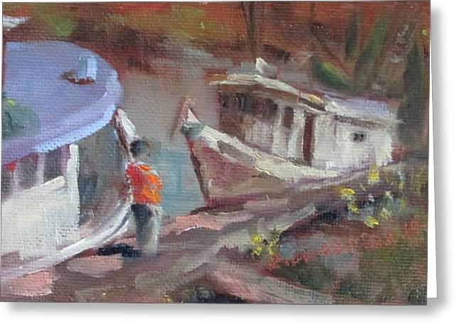 Apalachicola Seafood Greeting Cards - Mill Pond Greeting Card by Susan Richardson