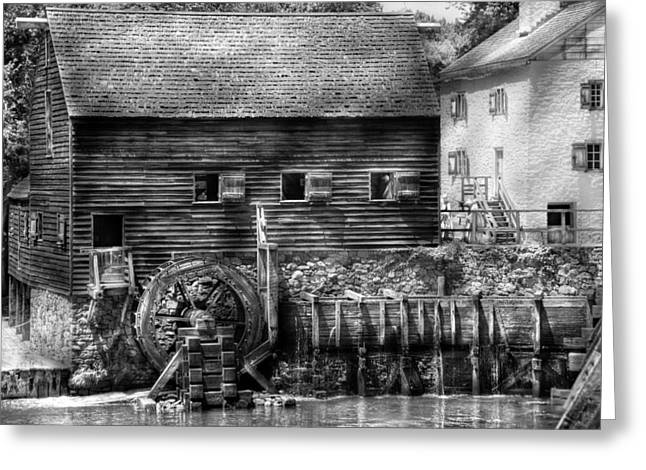 Old Mill Scenes Greeting Cards - Mill - Sleepy Hollow NY - By the mill  Greeting Card by Mike Savad