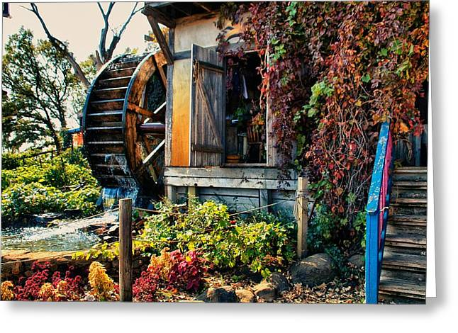 Old Grinders Mixed Media Greeting Cards - Mill Greeting Card by Todd and candice Dailey