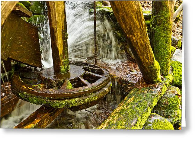 Gatlinburg Tennessee Greeting Cards - Mill Wheel Greeting Card by Terry Cotton