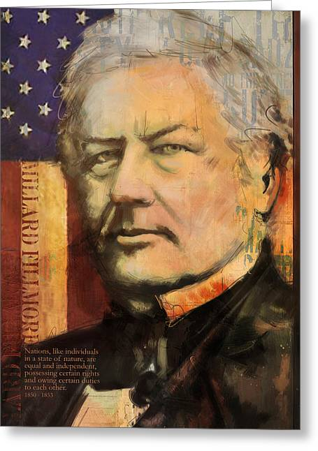 John Quincy Adams Greeting Cards - Millard Fillmore Greeting Card by Corporate Art Task Force