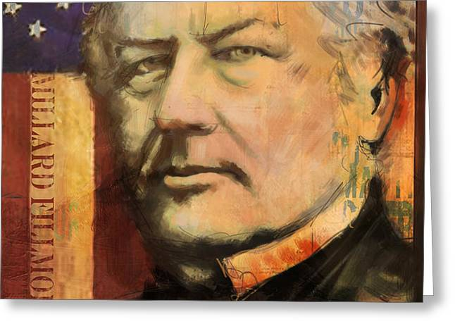 Millard Fillmore Greeting Card by Corporate Art Task Force