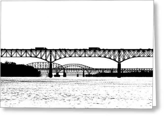 Chesapeake Bay Bridge Greeting Cards - Millard Tydings Memorial Bridge Greeting Card by William Jobes