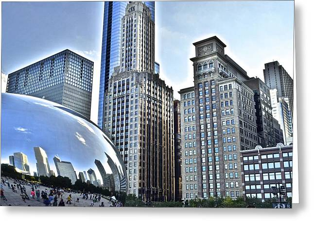 Millenium Park Greeting Card by Frozen in Time Fine Art Photography