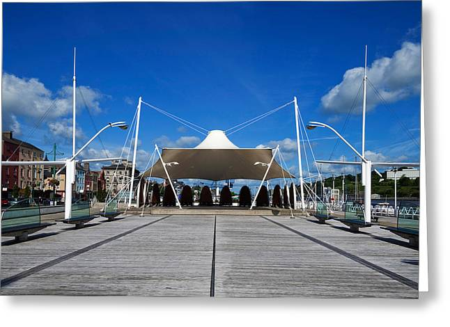 Contemporary Photography Greeting Cards - Millenium Plaza, Waterford City Greeting Card by Panoramic Images