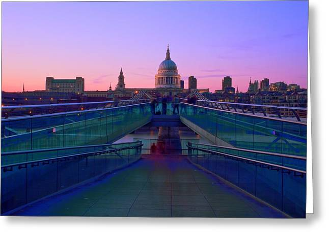 Chelsea Greeting Cards - Millenium Thames Bridges  Greeting Card by David French
