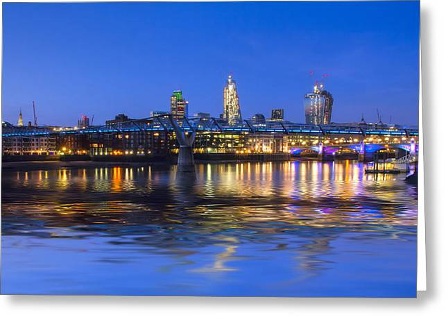 Chelsea Greeting Cards - Millennium Bridge London Greeting Card by David French