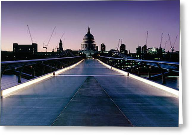 Domes Greeting Cards - Millennium Bridge London 2 Greeting Card by Rod McLean